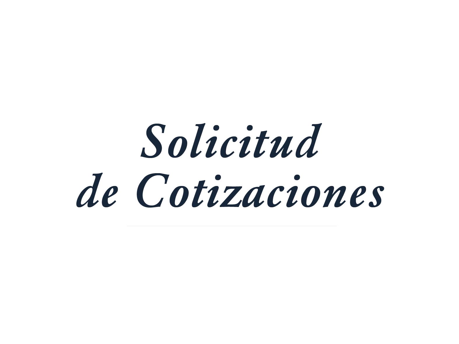 Solicitud de Cotizaciones