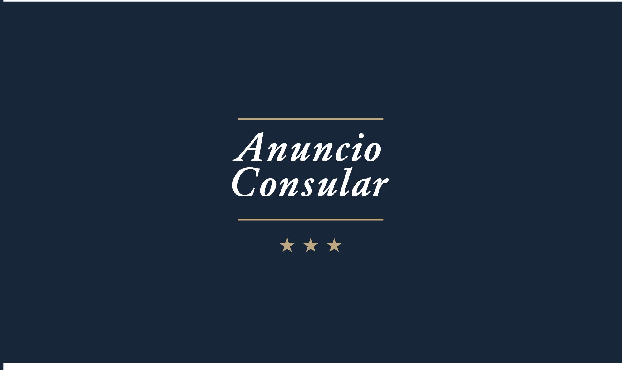 Anuncio Consular