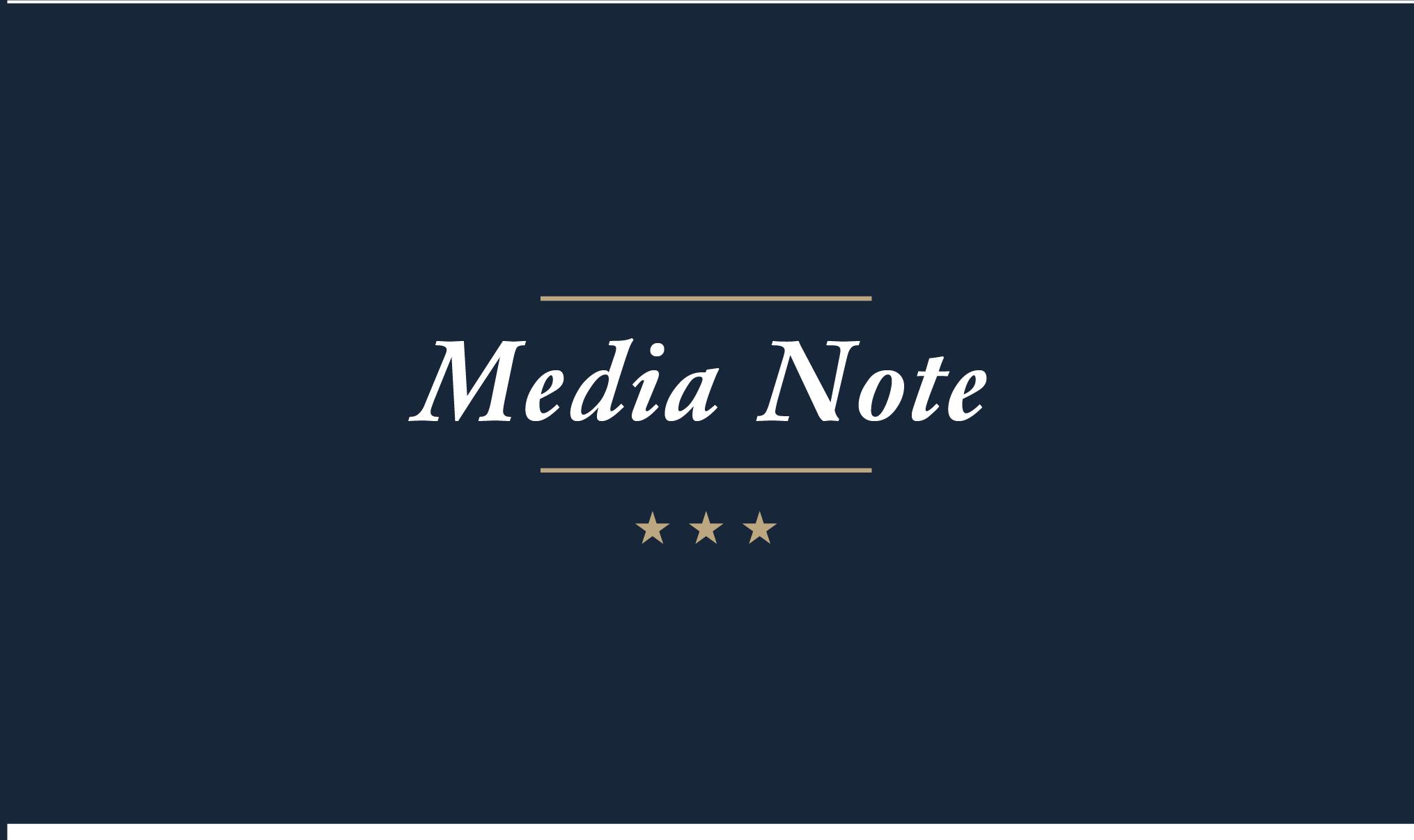 Media Note
