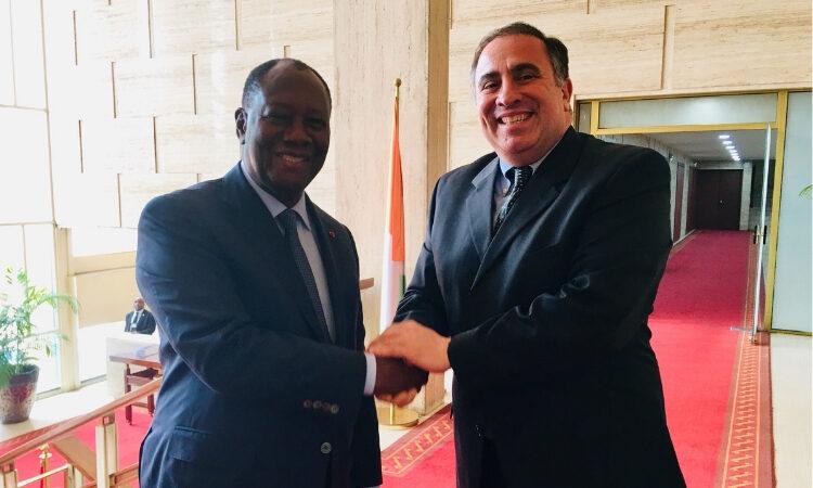 President Ouattara and Ambassador Alex Laskaris, Deputy Commander of AFRICOM