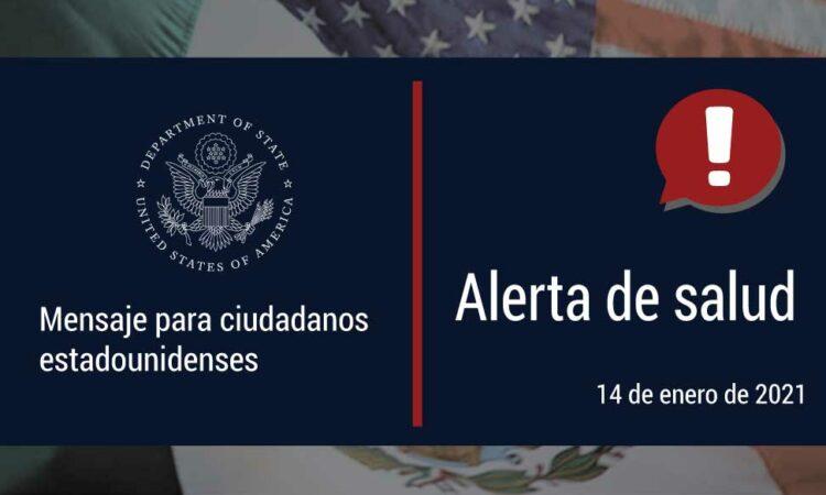 Alerta de salud - mensaje por ciudadanos estadounidense