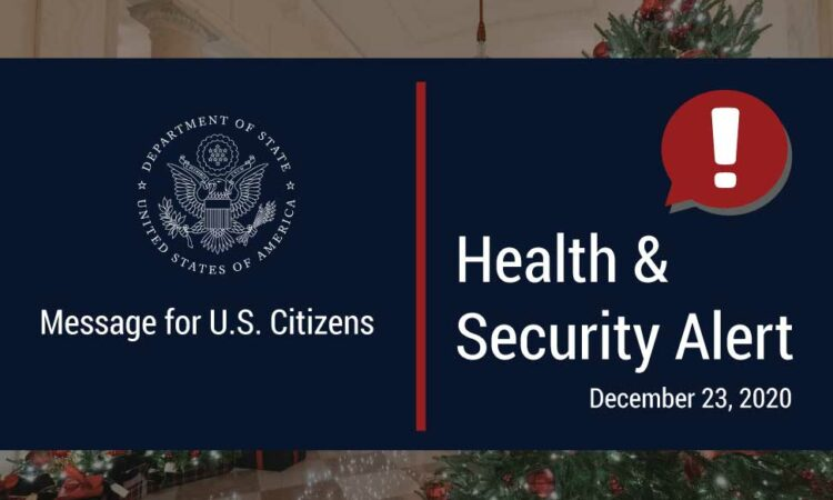 Department of State Alert Banner