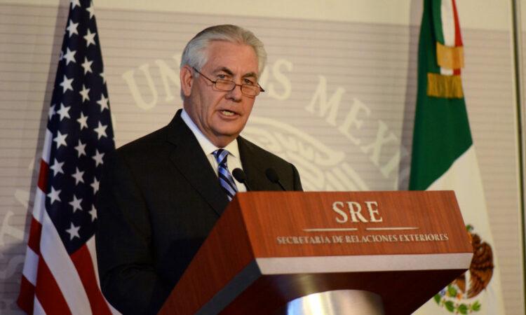 Secretary of State Rex Tillerson making a speech