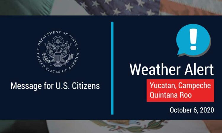 Department of State Weather Alert Banner