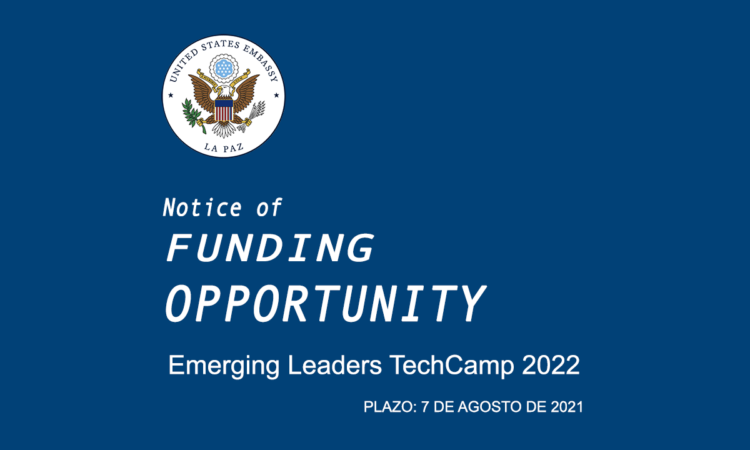 Notice of Funding Opportunity Emerging Leaders TechCamp 2022
