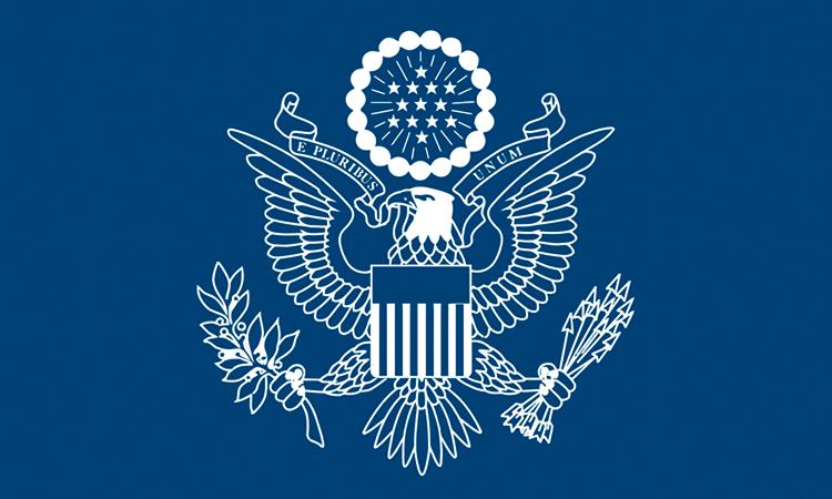 blue embassy seal