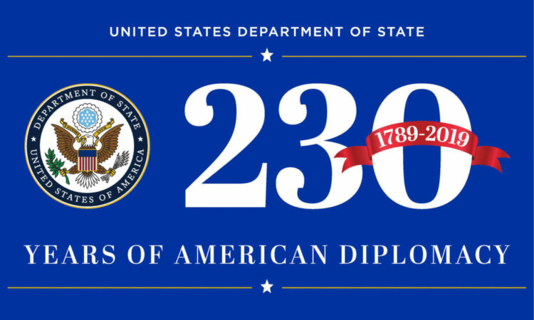 230 years of American Diplomacy logo