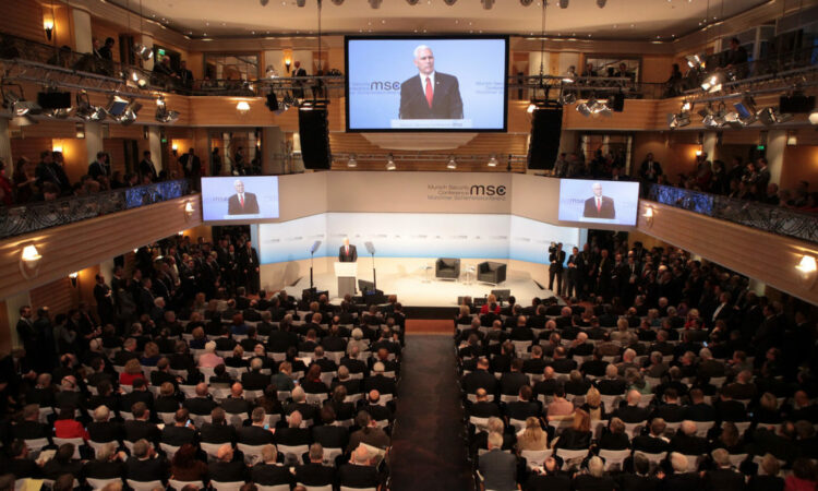 Vice President Pence speaking at the MSC 2017