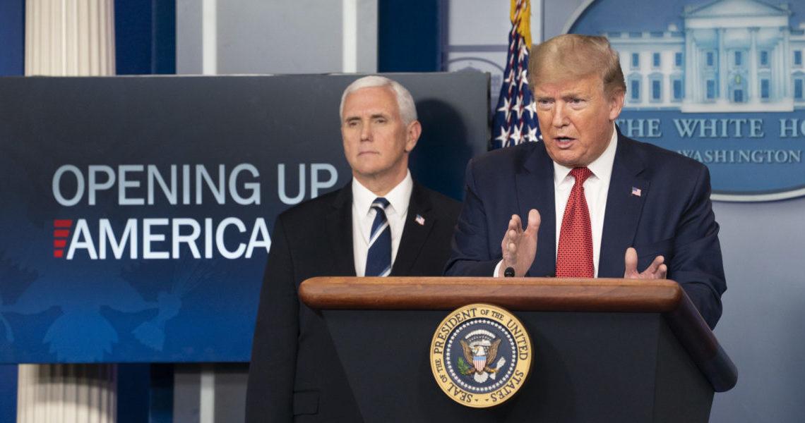 Two men at podium.