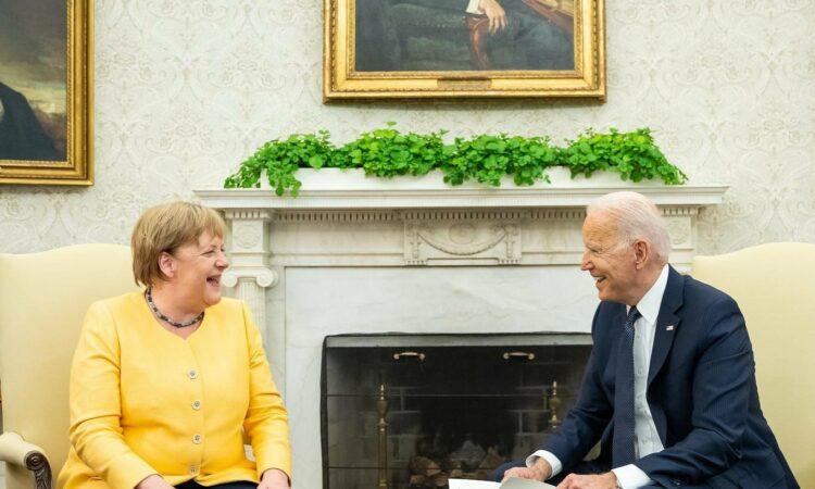 Merkel, Biden, im Weißen Haus