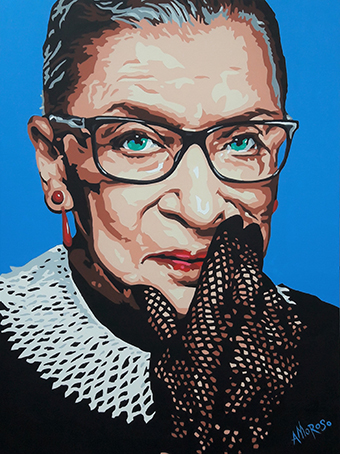 mural of Ruth Bader Ginsburg