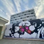 building with murals