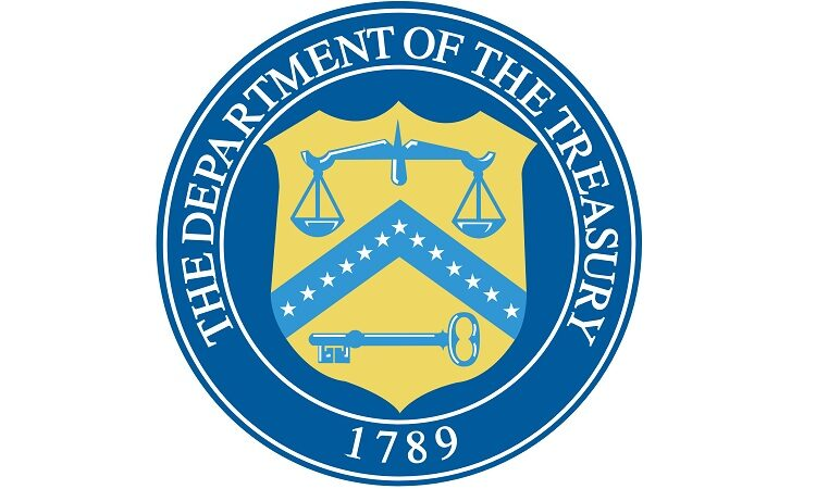 The Department of Treasury 1789 Seal