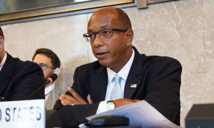 Ambassador Robert Wood Giving a Speech