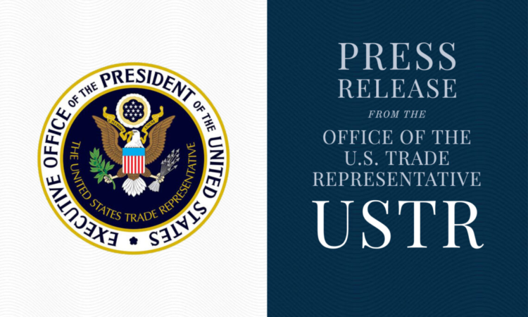 Press Release from the Office of the U.S. Trade Representative USTR