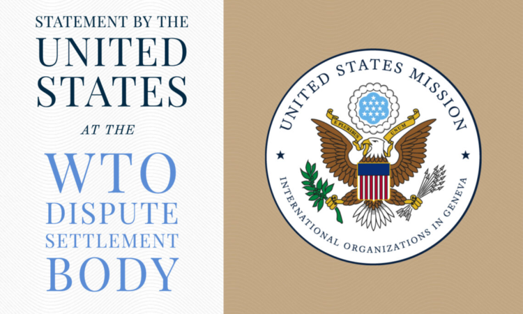 Statement by the United States at the WTO Dispute Settlement Body