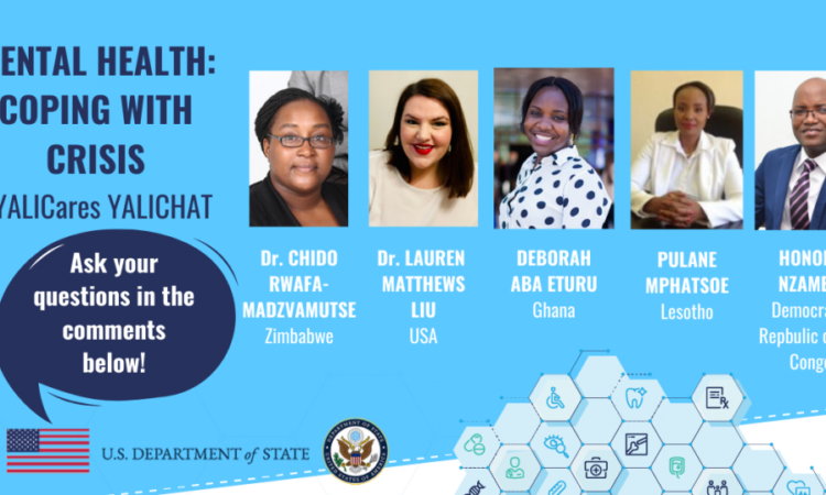 YALICHAT graphic with photos of the mental health panelists