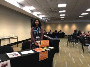 Mahlet representing Mandela Ethiopia Doctors at a Southern African regional convening for Mandela Washington Fellows