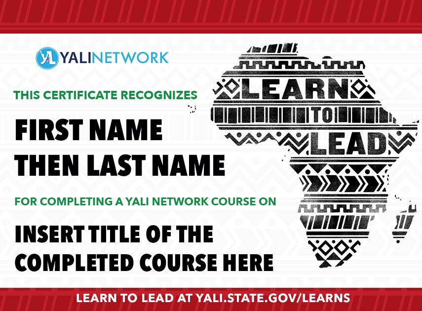 yalILEARNS certificate