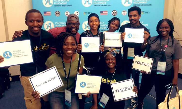 Manka'ah and other Fellows at the 2019 Mandela Washington Fellowship Summit