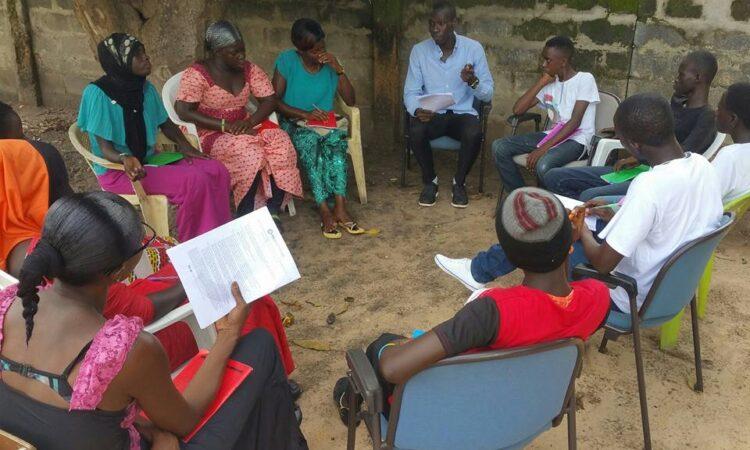 Ebrima Sonko leading discussion