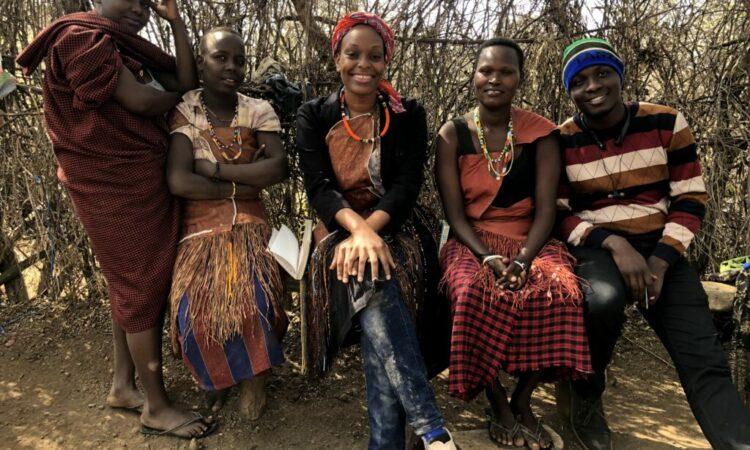 Elizabeth (middle) and Jerry (right) of the Hapo Zamani za Kale team.