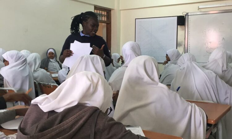 Juliet Odhiambo with one of her financial literacy classes (Courtesy Juliet Odhiambo)