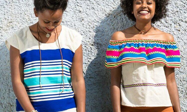 Rahwa and her sister at a WAWI Fashion shoot