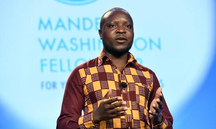 William Kamkwamba delivering his closing remarks at the 2019 Mandela Washington Fellowship Summit