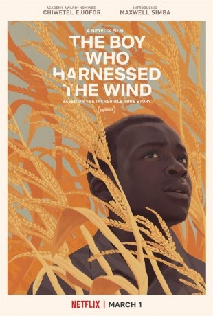 """Cover art for William's Netflix biopic """"The Boy Who Harnessed the Wind"""""""