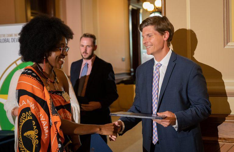 Bertha at the 2019 Mandela Washington Fellowship farewell dinner