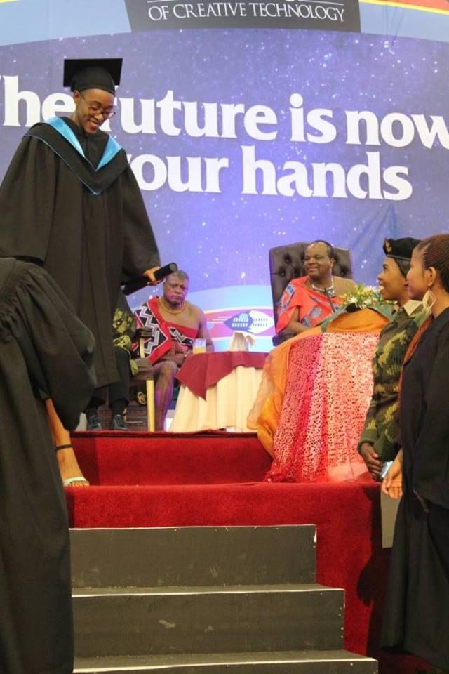 Bertha at her graduation ceremony
