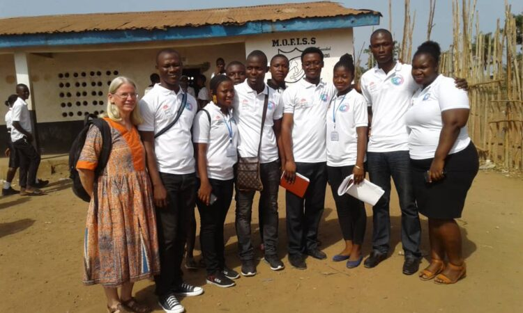 Florence at a Network of Advocacy for Youth Empowerment event in Bamio Luma