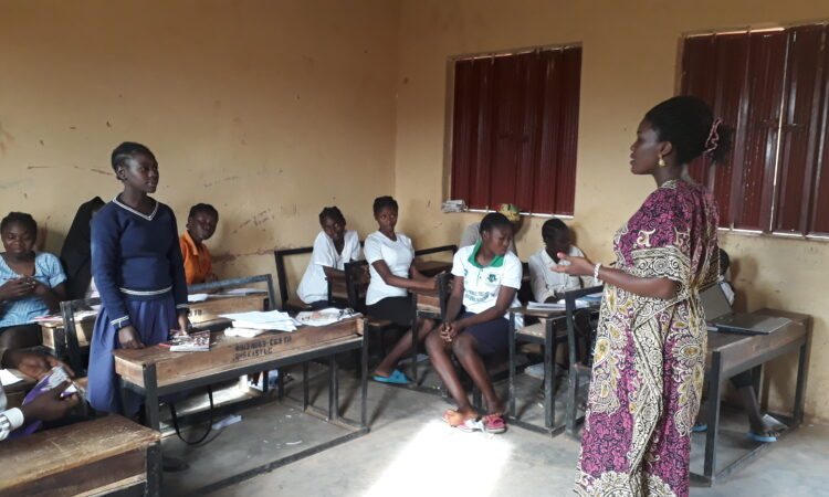 Nkechi leading a mentorship workshop in November 2018