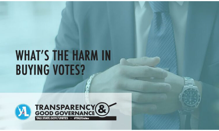 What's the harm in buying votes?