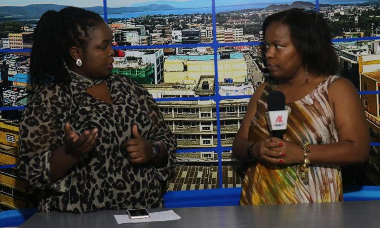 Estelle interviewing Latanya Mapp Frett, president of the Global Fund for Women in 2019