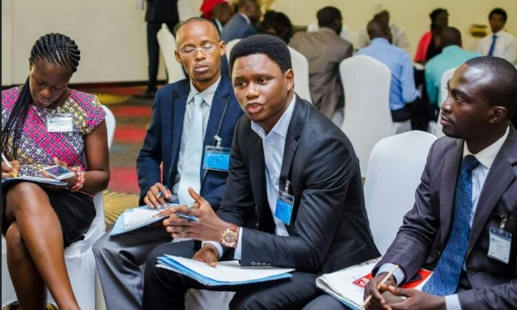 Osman moderating a session at the 2016 Mandela Washington Fellowship Regional Conference in Accra, Ghana