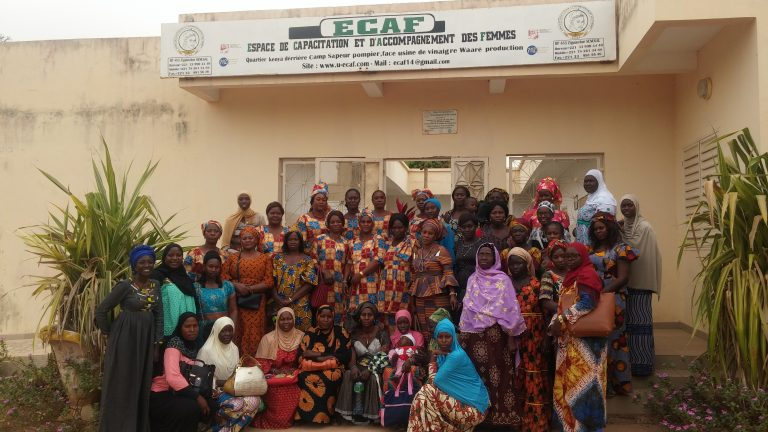 Thioro and community members at a financial literacy training in 2019