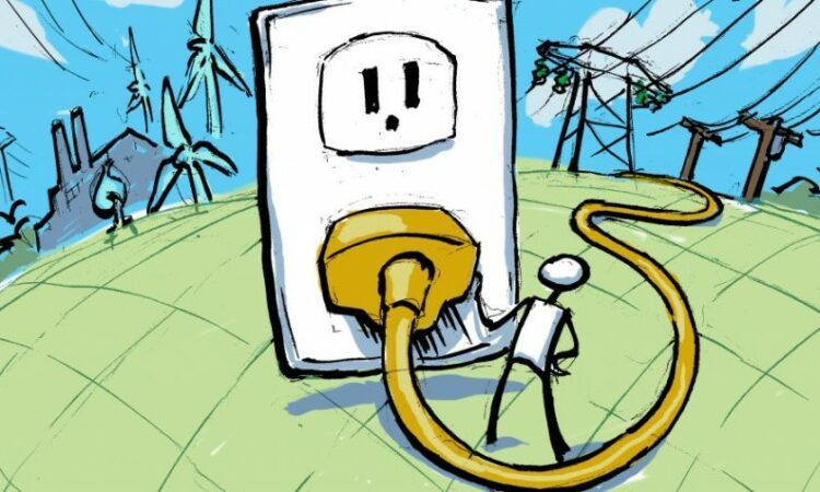 Illustration of electrical outlet and plug (State Dept./Doug Thompson)
