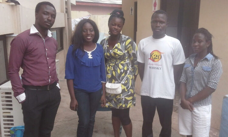 Yvonne and colleagues at a detergent making training