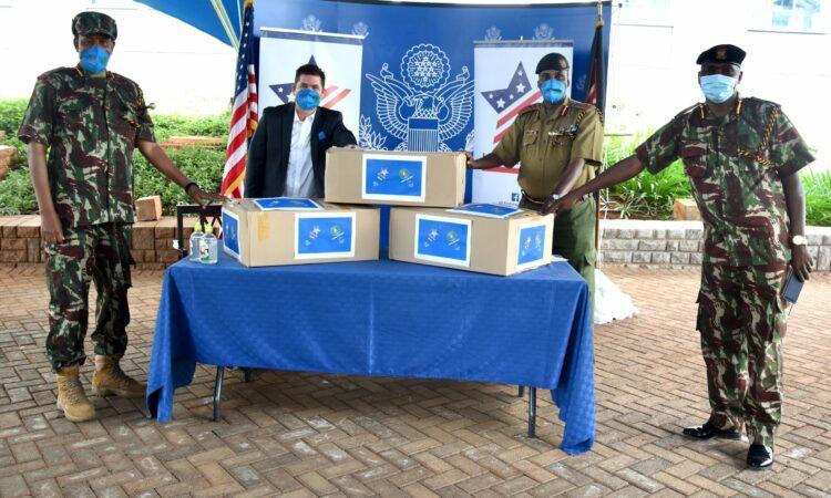 U.S. Ambassador Kyle McCarter donates 40,000 USAMarafiki face masks to Kenya Border Police Unit