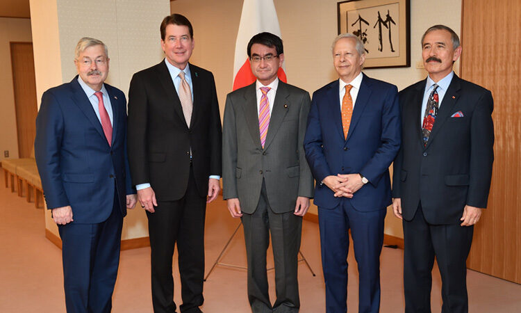 Ambassador Bill Hagerty with 4 colleagues