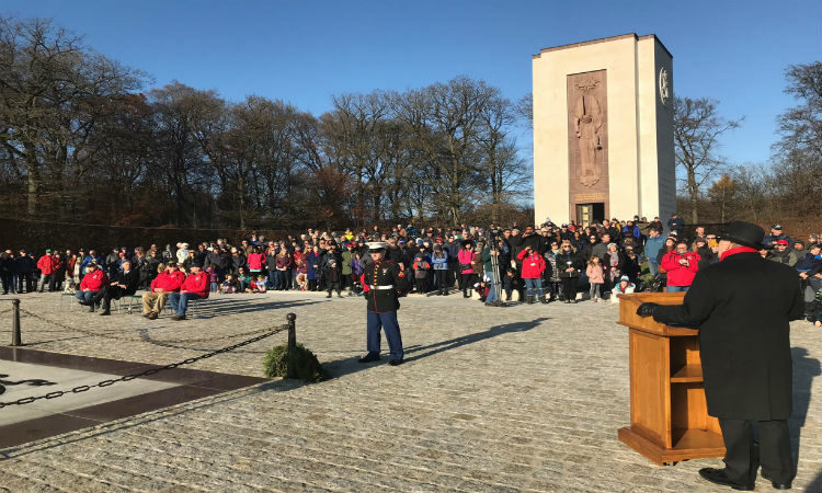 Wreath Laying ceremony at the Luxembourg American Cemetery