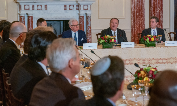 Secretary of State Michael R. Pompeo and Ambassador-At-Large for Religious Freedom Sam Brownback