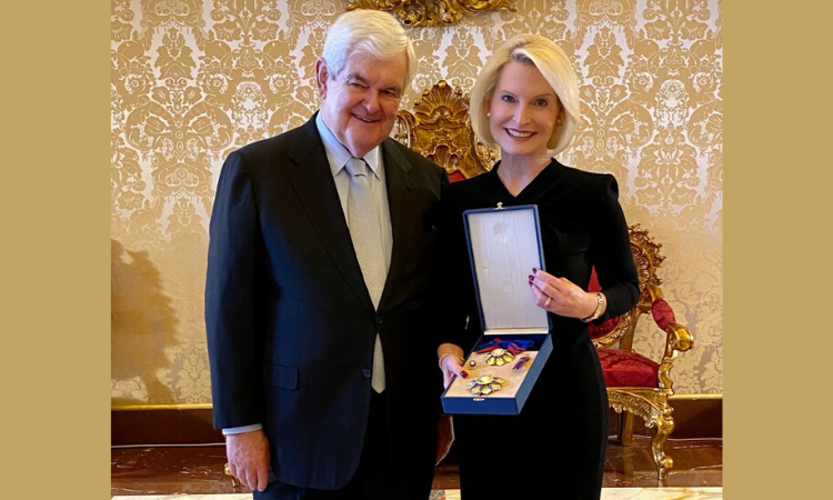 Ambassador and Speaker Gingrich in the Vatican Apostolic Palace, June 18, 2020.