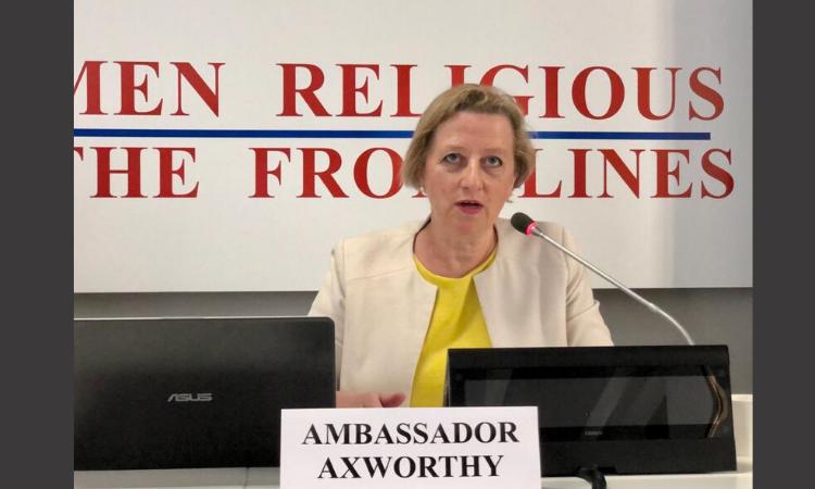 British Ambassador to the Holy See Sally Axworthy's speaking