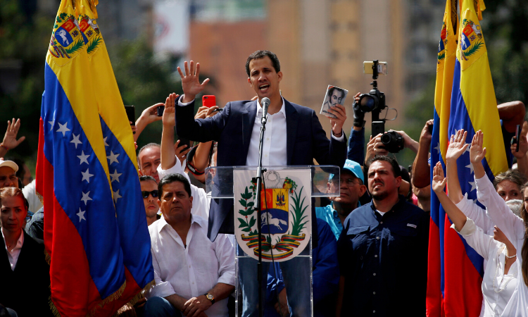 Venezuelan National Assembly at a rally