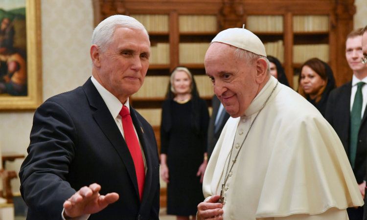 Pope Francis meets with US Vice President Mike Pence