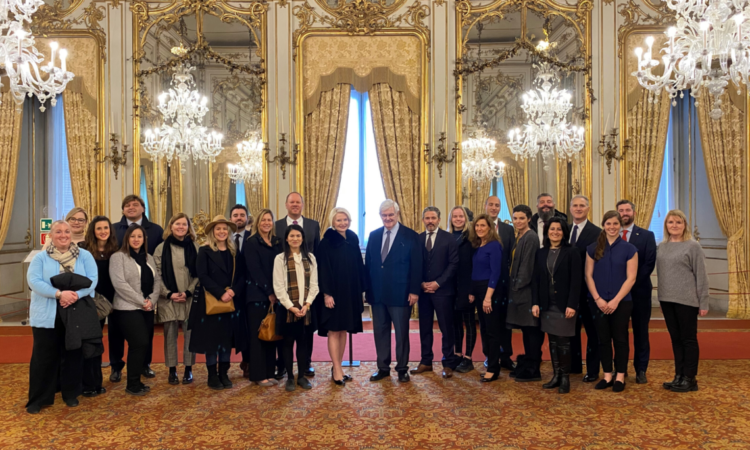 Ambassador Gingrich and her staff were honored to visit the barracks of the Reggimento Corazzieri and Quirinale Palace