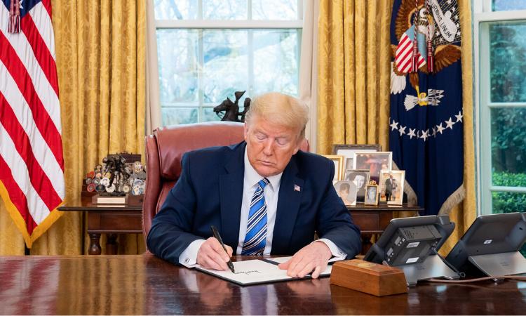 Trump Signing Relief bill